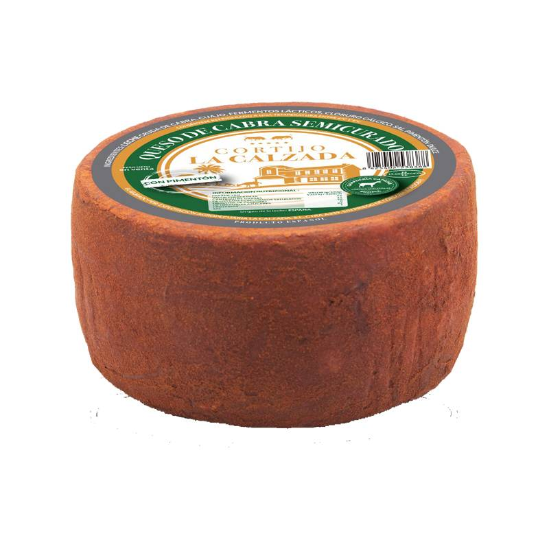 Queso Cabra SemiCurado con pimenton Cortijo La Calzada