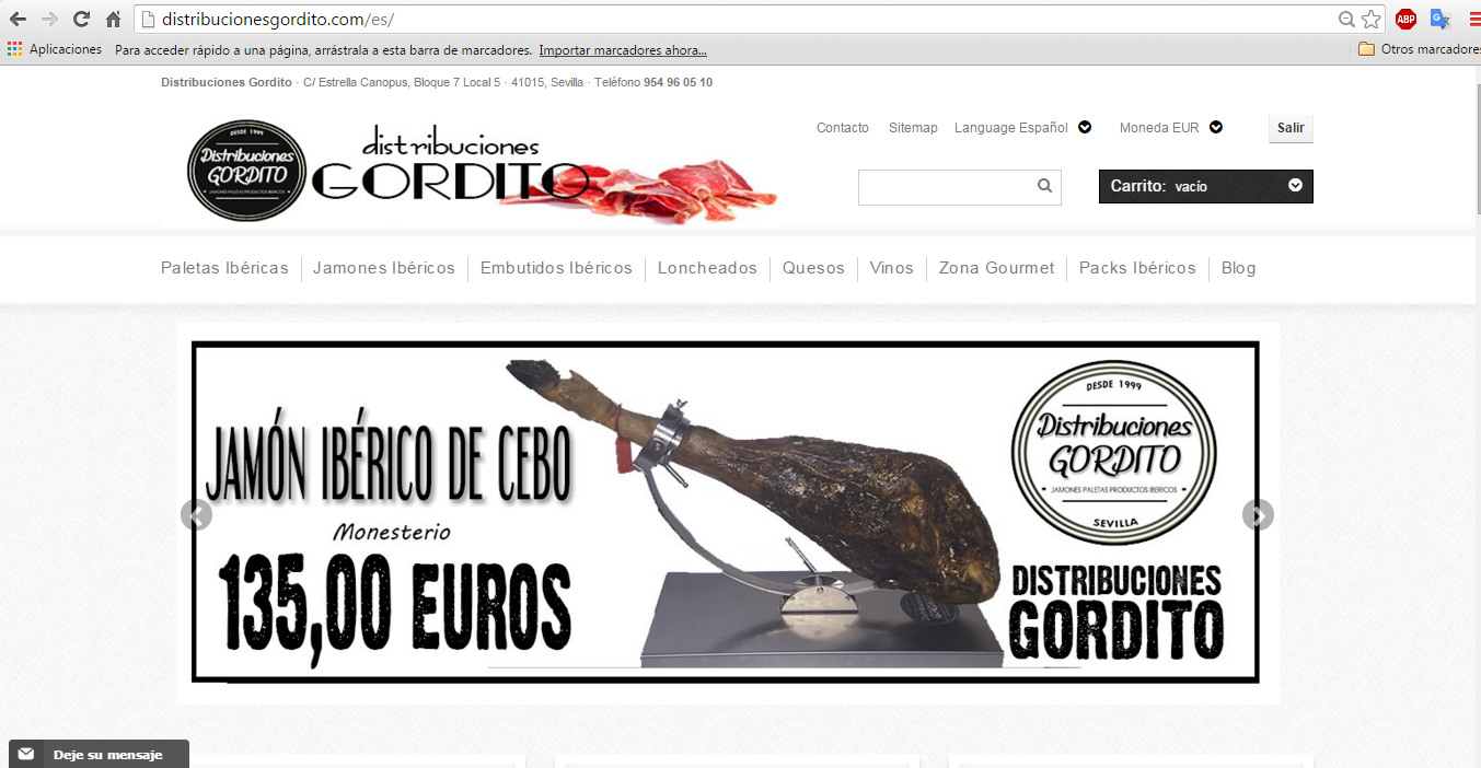 jamon online barato Distribuciones Gordito